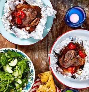 Sticky Glazed Lamb Chops with Redcurrant and Rosemary